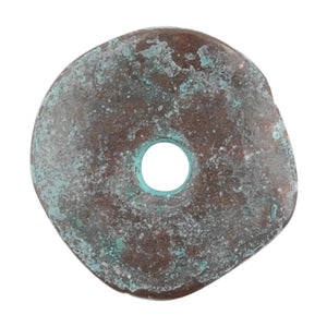Casting-16mm Cornflake-Green Patina