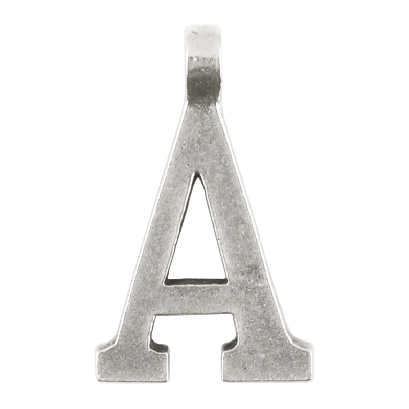 "Casting-16x28mm Letter ""A""-Antique Silver"