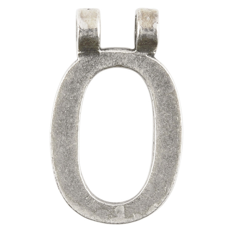 "Casting-16x28mm Letter ""O""-Antique Silver"
