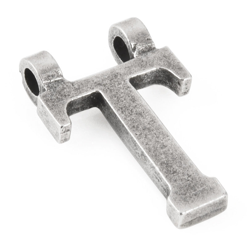 "Casting-16x28mm Letter ""T""-Antique Silver"