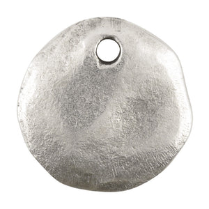 Casting-17mm Hammered Circle-Antique Silver-Antique Silver