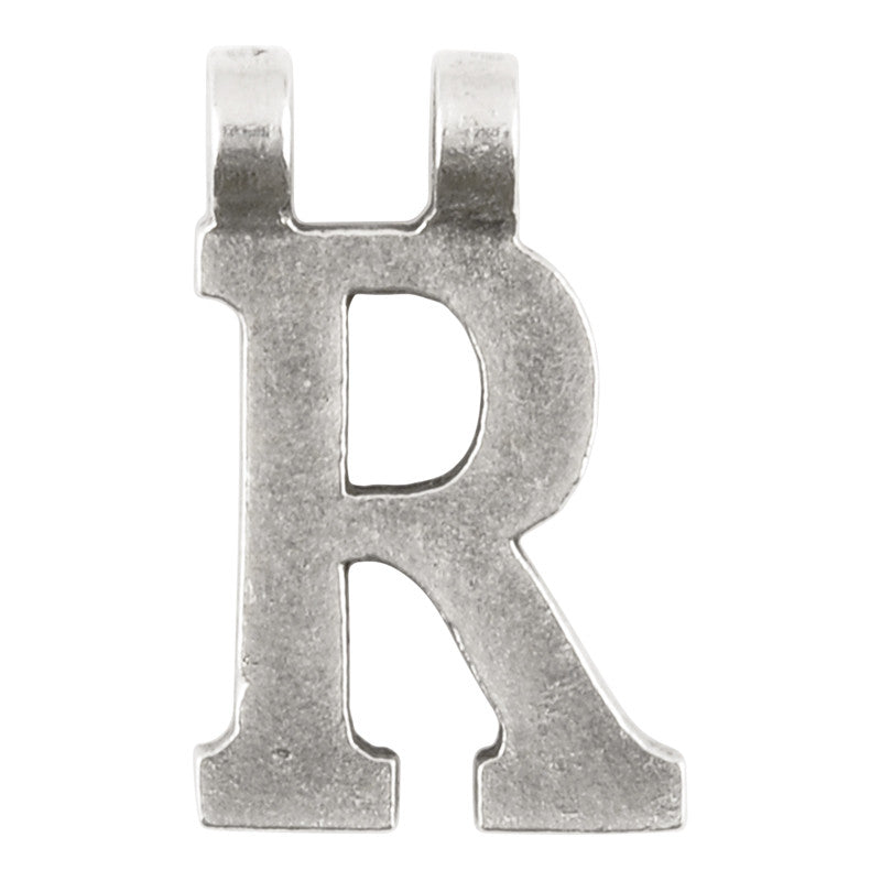 "Casting-17x28mm Letter ""R""-Antique Silver"