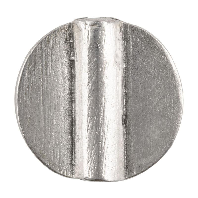 Casting-18mm Flat Round Tube-Antique Silver