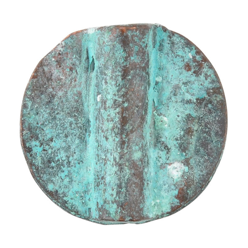 Casting-18mm Flat Round Tube-Green Patina
