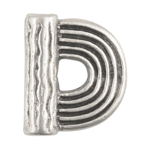 Casting-18x16mm Flat Round Half Spiral Loop-Antique Silver-Antique Silver
