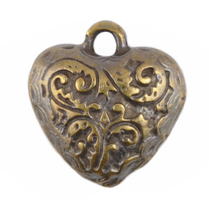 Casting-18x20mm Ornate Heart Charm-Antique Bronze