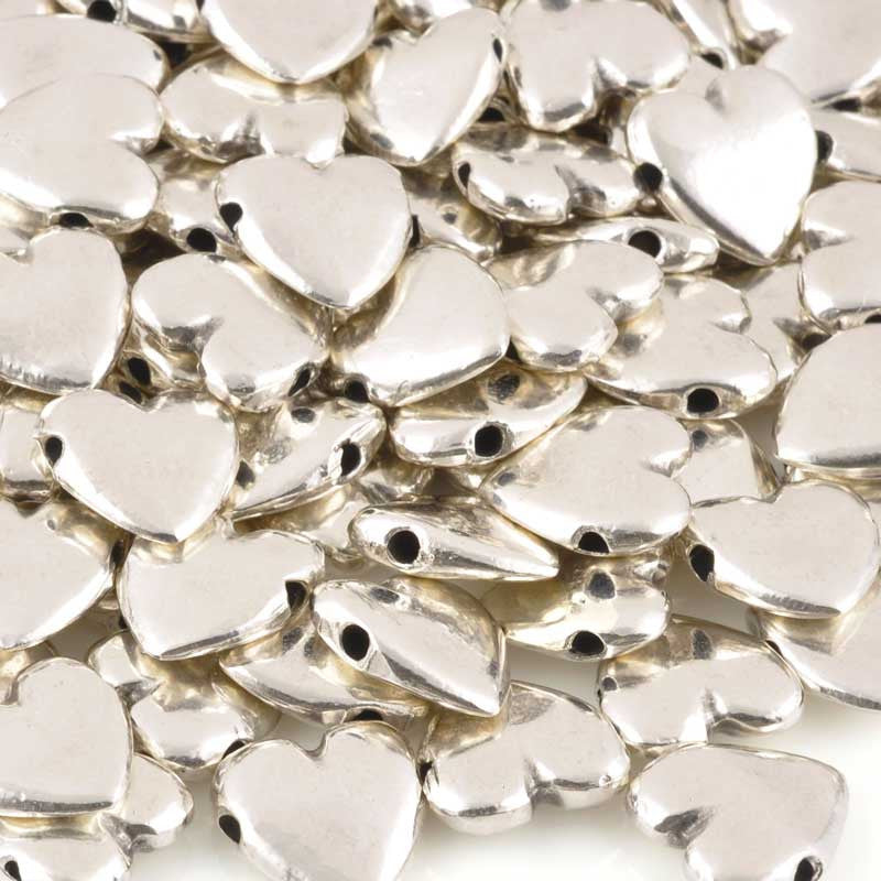 Casting-13mm Heart Bead-Antique Silver