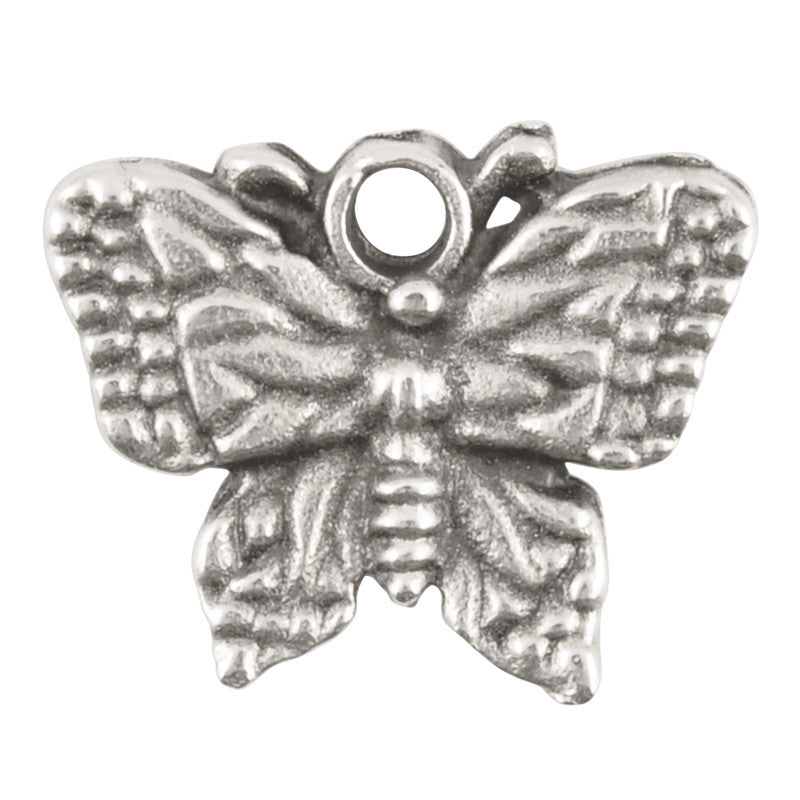 Casting-19x15mm Butterfly-Antique Silver