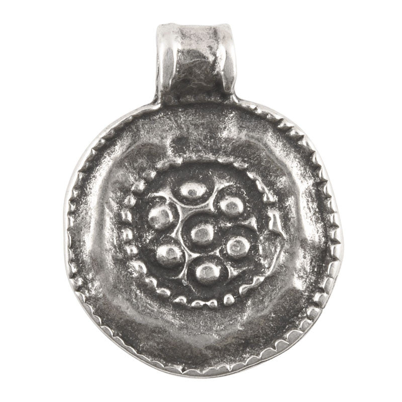 Casting-19x24mm Granular-Antique Silver