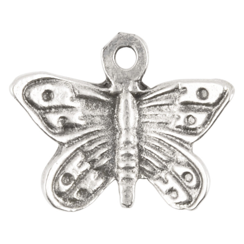 Casting-20x14mm Flying Butterfly-Antique Silver