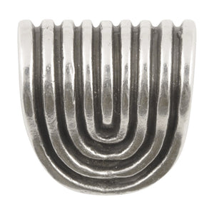 Casting-20x16mm Half Spiral Loop-Antique Silver