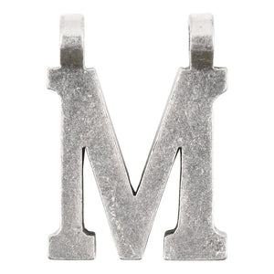 "Casting-20x28mm Letter ""M""-Antique Silver"