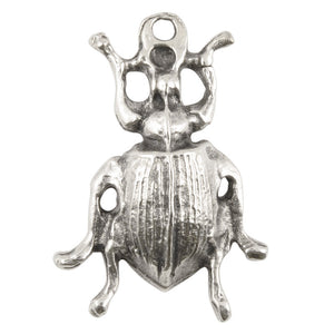 Casting-20x29mm Beetle-Antique Silver-Quantity 1