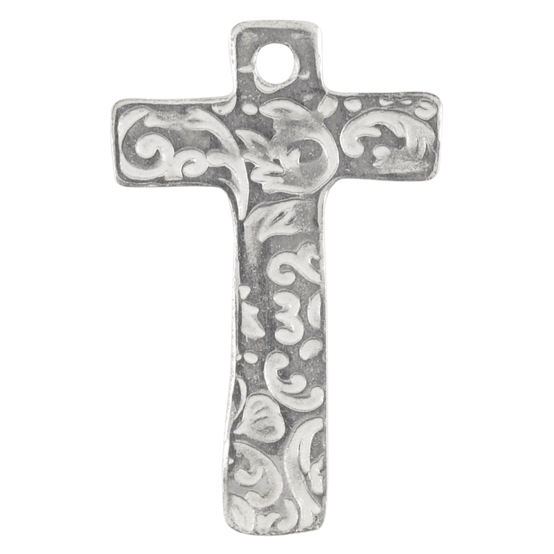 Casting-20x35mm Victorian Cross-Silver-Quantity 1