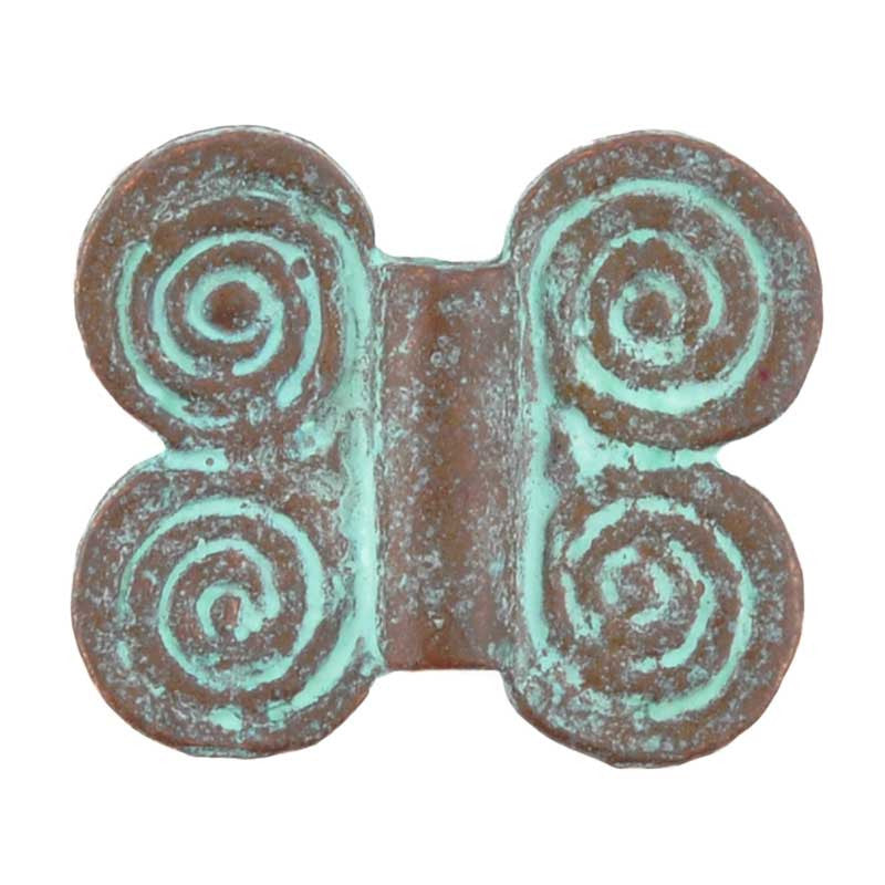 Casting-21x18mm Butterfly-Green Patina