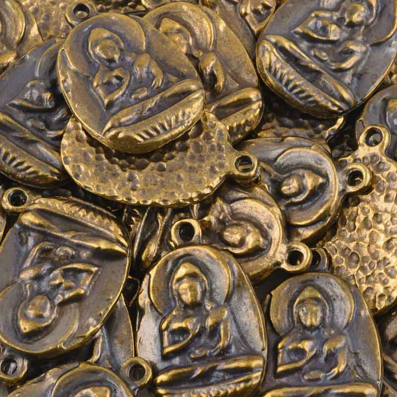Casting-21x31mm Buddha Pendant-Antique Bronze