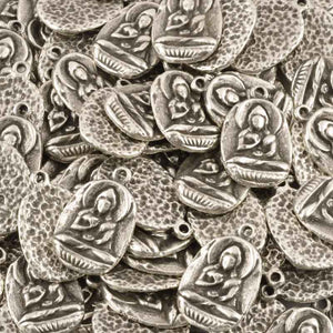 Casting-21x31mm Buddha Pendant-Antique Silver