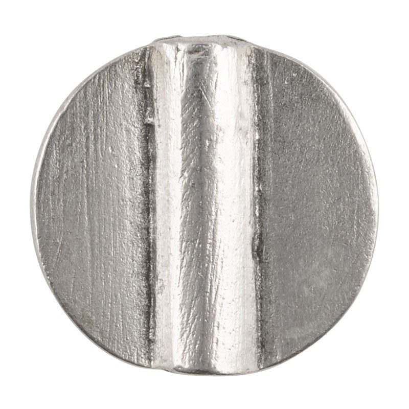 Casting-23mm Flat Round Tube-Antique Silver