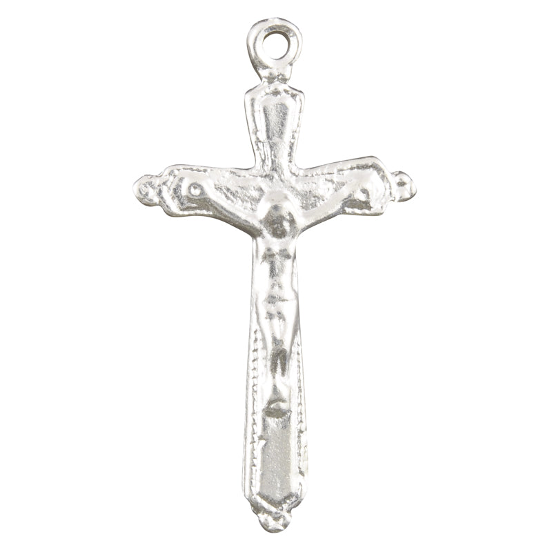 Casting-23x42mm Catholic Crucifix Cross-Silver