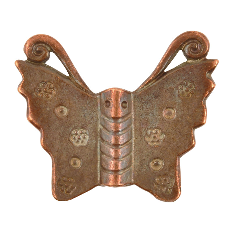 Casting-25mm Butterfly Bead-Antique Copper-Quantity 1