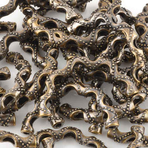 Casting-29x49mm Ornate Curved Tube-Antique Bronze