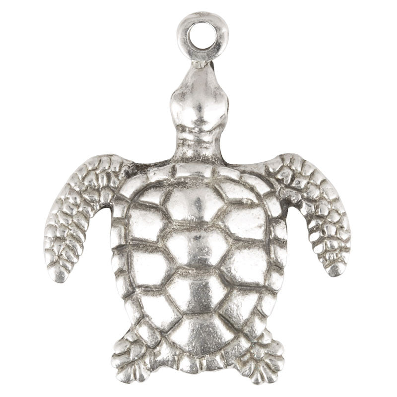 Casting-30x40mm Sea Turtle-Antique Silver