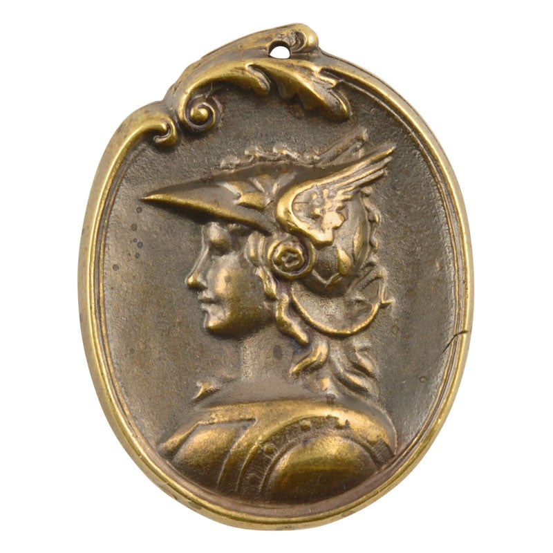 Casting-32x42mm Greek Goddess Cameo-Antique Bronze
