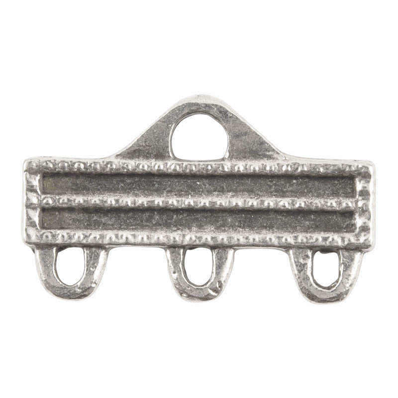Casting-33x19mm Multi Strand Connector-Antique Silver