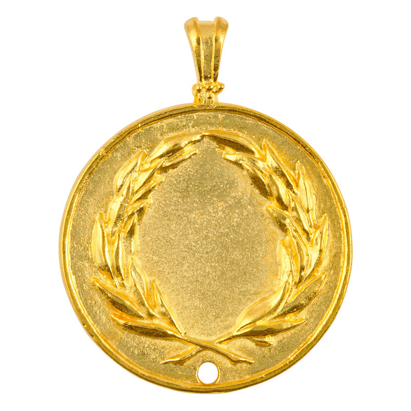 Casting-48x59mm Greek Coin Pendant-Gold-Quantity 1