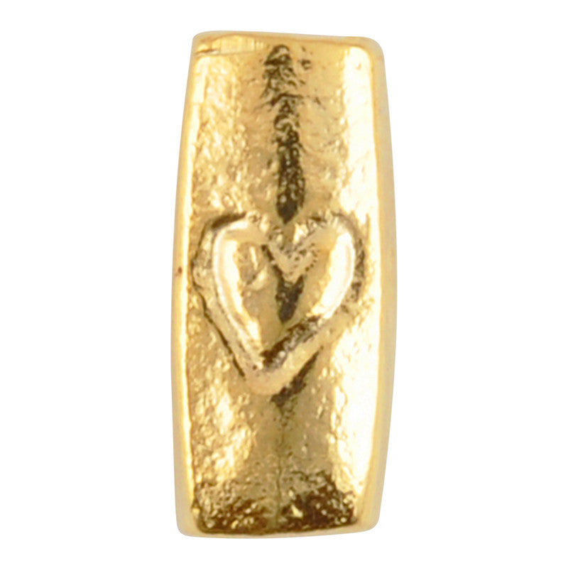 Casting-5x11mm Heart Tube-Gold