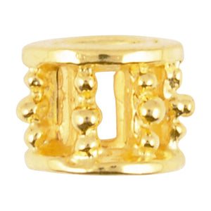Casting-6x8mm Ornamental Tube-Gold