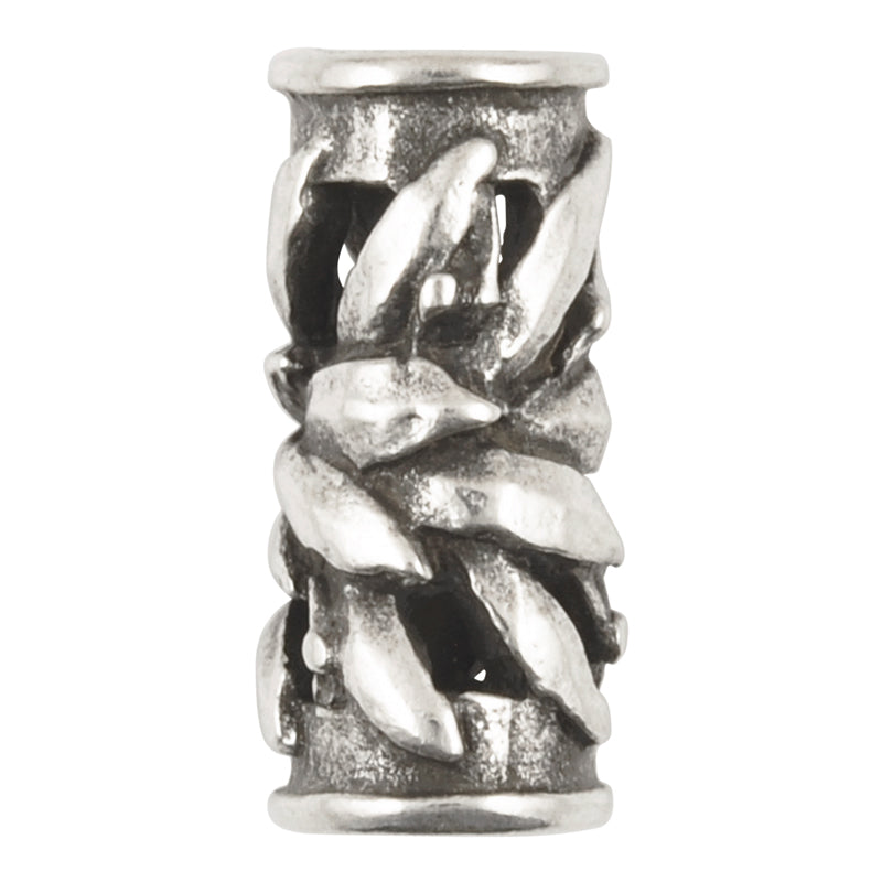 Casting-8x20mm Flower Tube-Antique Silver-Quantity 1