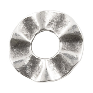 Casting-9mm Wavy Disc Spacer-Antique Silver