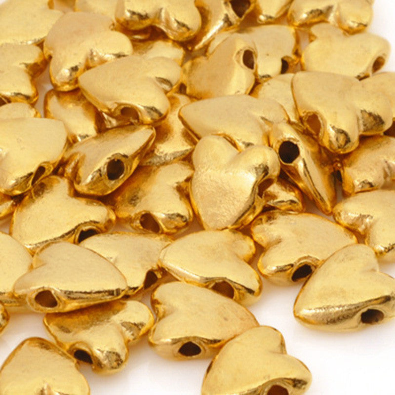 Casting-9x10mm Heart Bead-Gold
