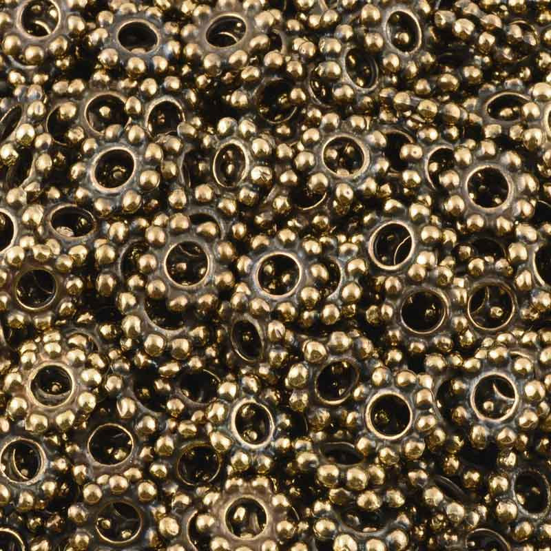 Casting Beads-10mm Dot Spacer-Antique Bronze