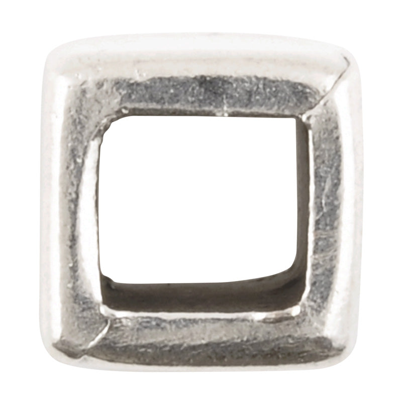 Casting-10x11mm Cube-Antique Silver