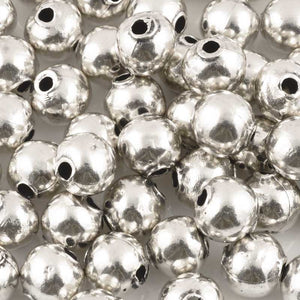 Casting Beads-11mm Round-Antique Silver