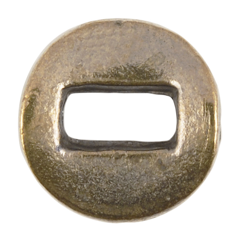 Casting Beads-11mm Round Flat Pinch-Antique Bronze