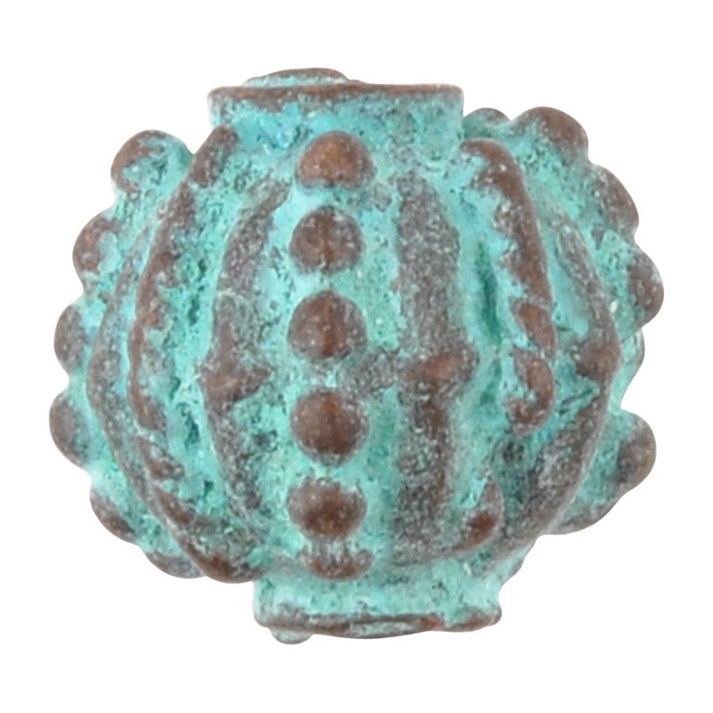 Casting Beads-11x10mm Prickly-Green Patina