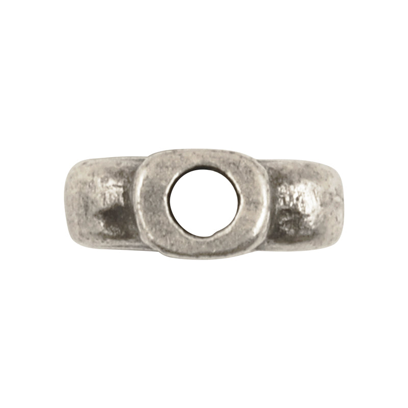 Casting Beads-14x18mm Ancient Tube-Antique Silver-Quantity 1