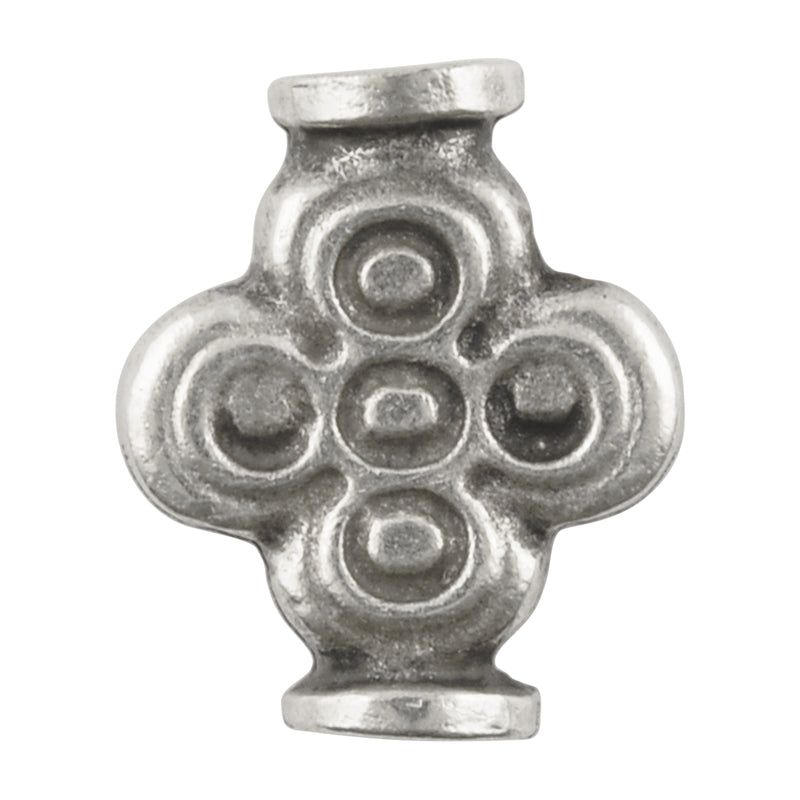 Casting Beads-20x15mm Ancient Cross Tube-Antique Silver-Quantity 1