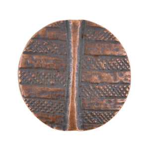 Casting-30mm Geometric Bead-Antique Copper