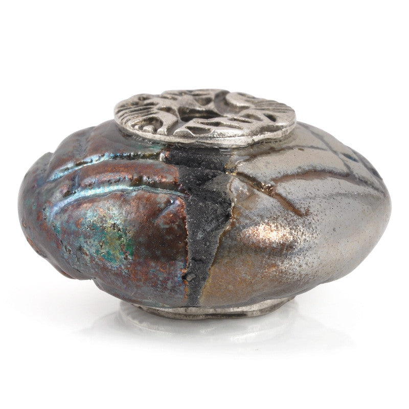 Casting Beads-37mm Ceramic Focal-Raku Copper
