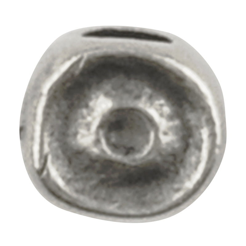 Casting Beads-4x10mm Tiny Swirl-Antique Silver-Quantity 5