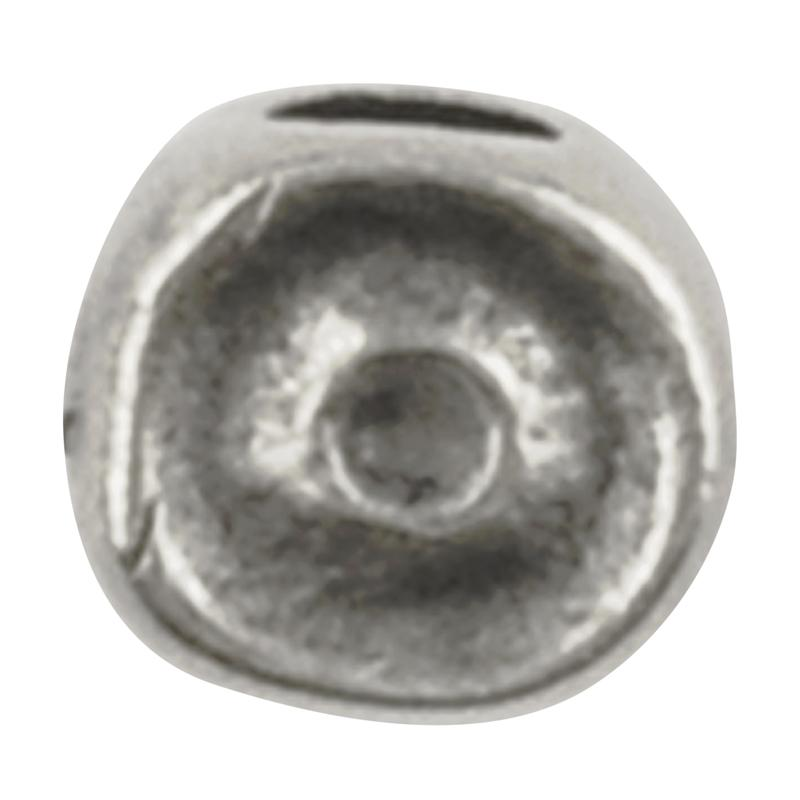 Casting Beads Wholesale-4x10mm Tiny Swirl-Antique Silver-Quantity 50