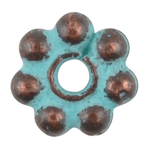 Casting Beads-5mm Dot Spacer-Green Patina