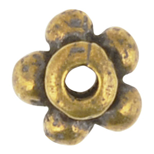 Casting Beads-5mm Tiny Beaded Spacer-Antique Bronze