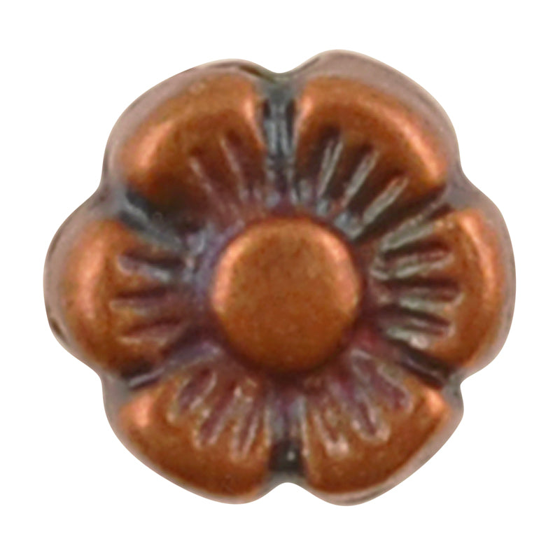 Casting Beads-6mm Flower Spacer-Antique Copper-Quantity 5