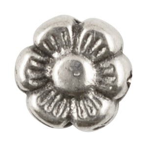 Casting Beads-6mm Flower Spacer-Antique Silver
