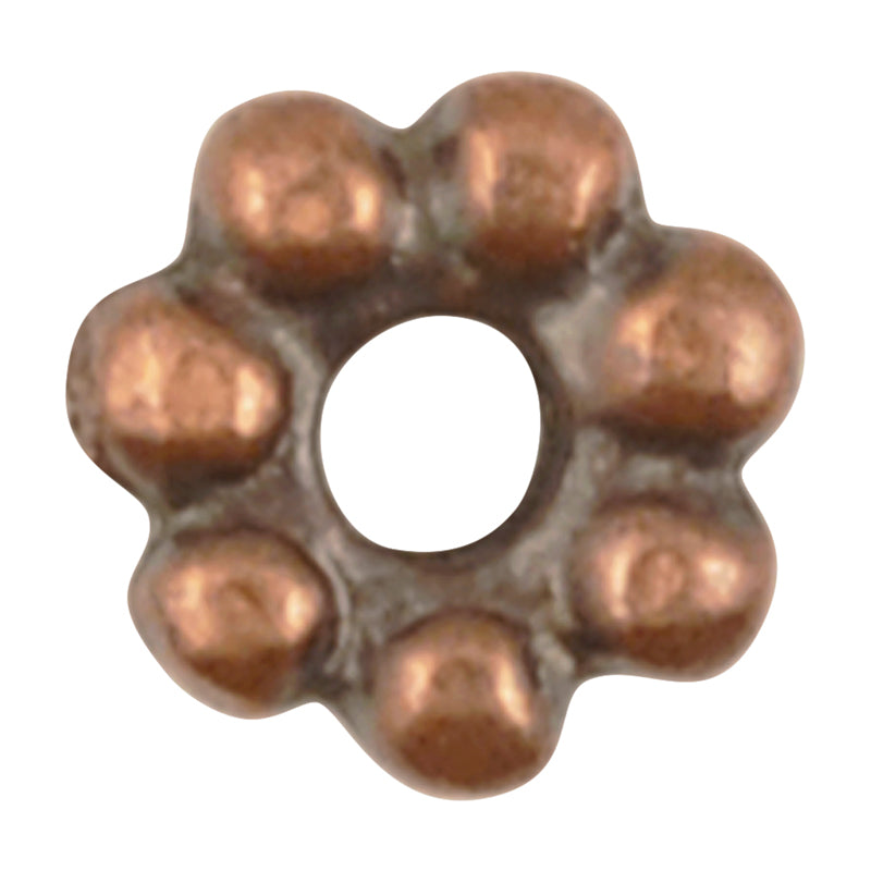 Casting Beads-7mm Dot Spacer-Antique Copper-Quantity 10